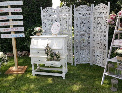 Organización y decoración para boda rústica