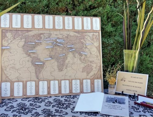 Identificadores de mesa para bodas originales