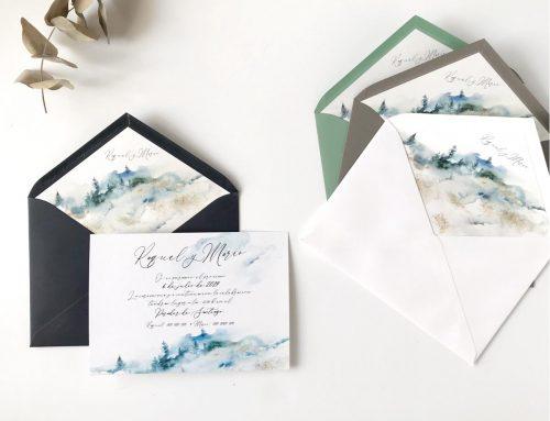 La invitación de boda, la carta de presentación